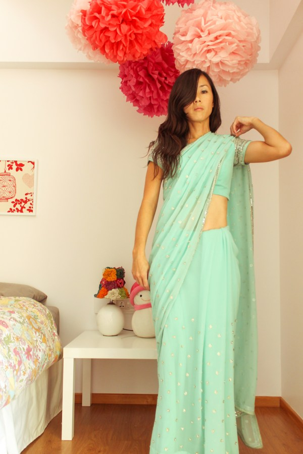 how to wear a saree-13