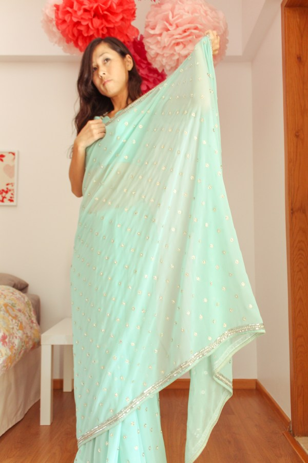 how to wear a saree-8