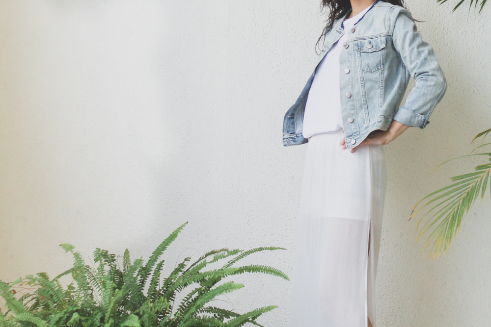 Monday Mode ☆ H&M Sheer Maxi Skirt & Gap Denim Jacket