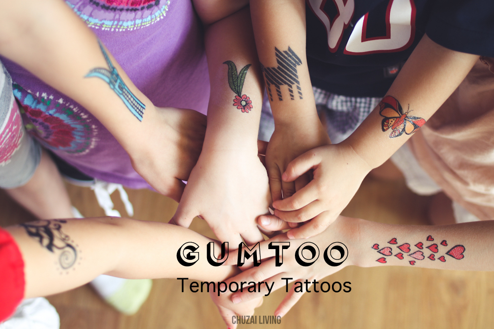 Gumtoo Temporary Tattoos ☆ Metallic & Fun Designers Tattoos