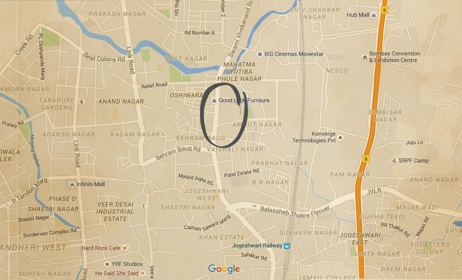 Oshiwara Jogeshwari Map
