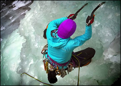 TELUS Optic Local: Ghost Ice Climbing Video with Sarah Hueniken