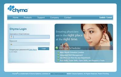 Chyma Login Page - start.chyma.net