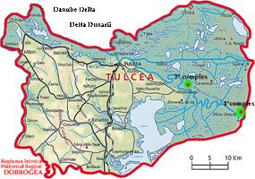 Delta del Danubio Mappa