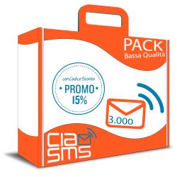 CiaoSMS Pack 3.000 SMS Bassa Qualità