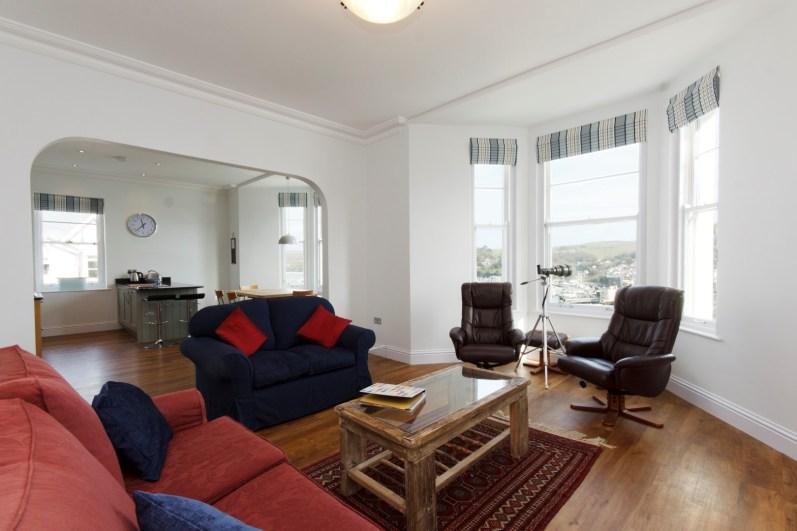 Above Town, Dartmouth, Property refurbishment, Living Room