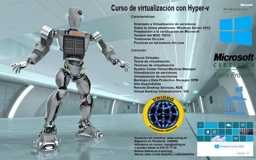 cartel curso Hyper-V
