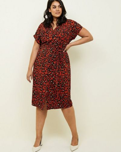 curves-brown-leopard-print-midi-dress