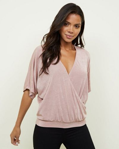 pink-slinky-wrap-batwing-sleeve-top