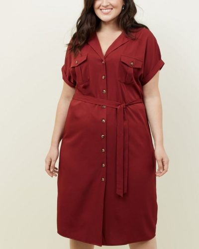 curves-burgundy-twill-midi-shirt-dress