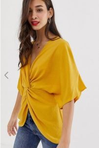 Asos design knot front top