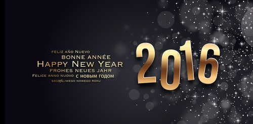 Carte de voeux - Happy New Year 2016