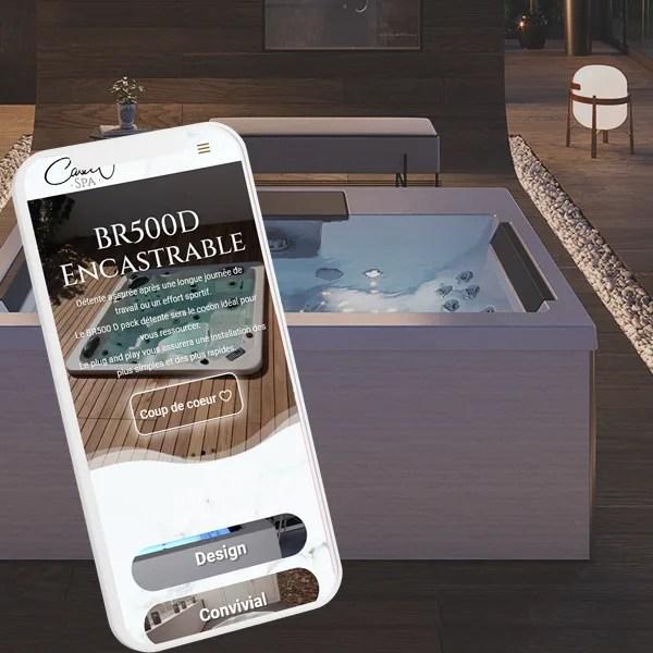 Site mobile responsive castel spa