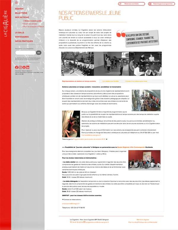 La cigalière homepage du site internet