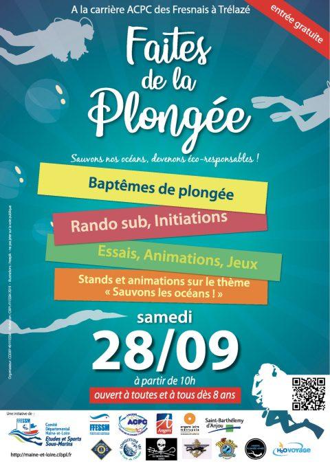 """""""Faites de la plongée"""" le 28 septembre 2019 carrière ACPC les fresnais 3 rue paperie 49800 Trélazé"""
