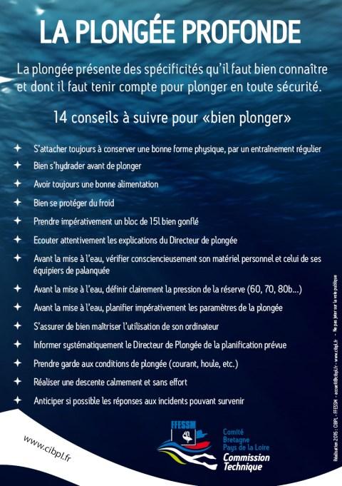 Campagne de prévention sur la plongée profonde