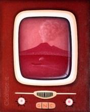 VESUVIO ROSSO (2001) olio su tela (30x24)