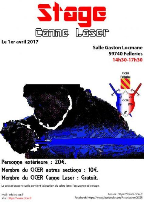 Affiche Stage Canne Laser