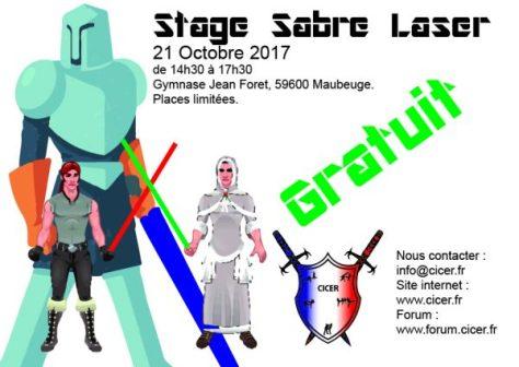 Affiche Stage SAbre Laser Octobre 2017