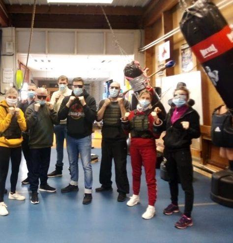 Photo de groupe après l'atelier obésité, cécité.