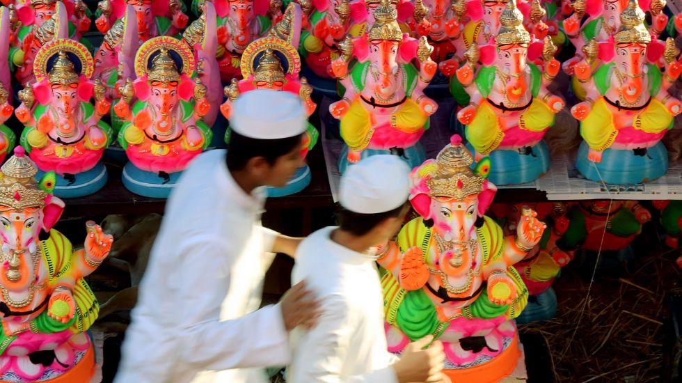 """Ein Teil der Regierungspartei BJP strebt die """"Hinduisierung"""" Indiens an / picture alliance"""
