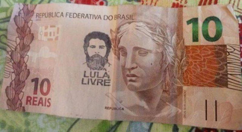 Rede bancária receberá notas com carimbo de 'Lula Livre'