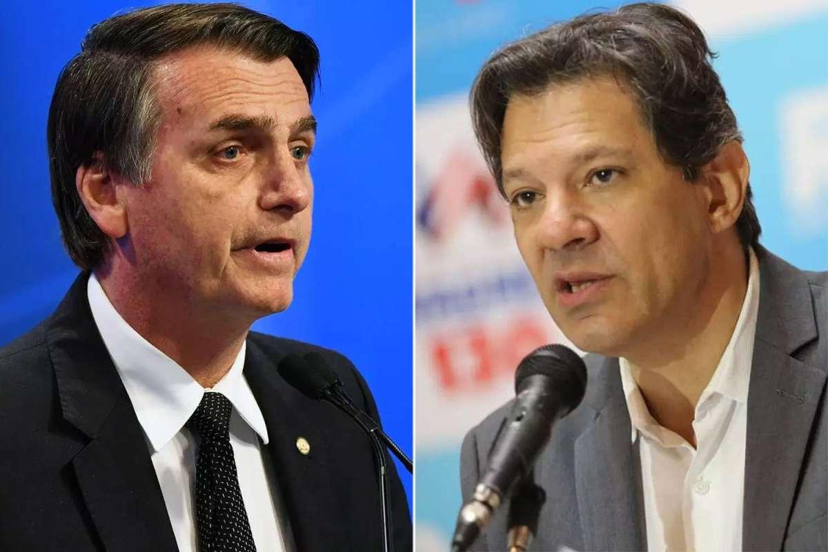 Ibope: Bolsonaro tem 32% das intenções de voto; Haddad tem 23%