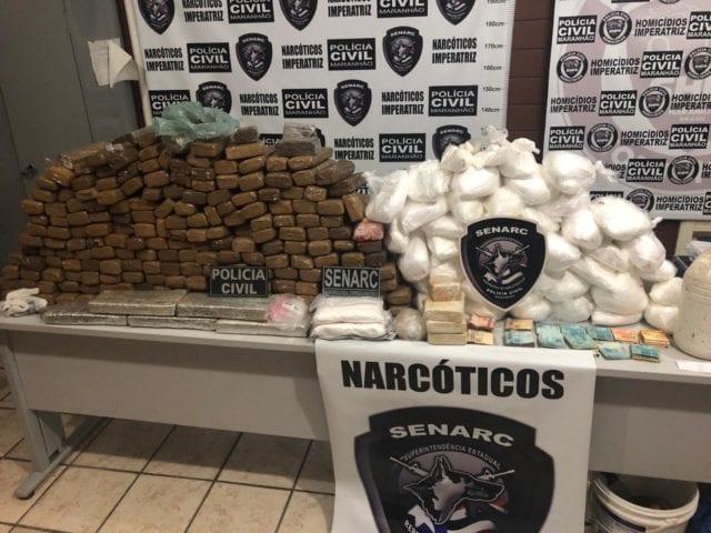 Polícia Civil apreende mais de 200 kg de drogas em Imperatriz