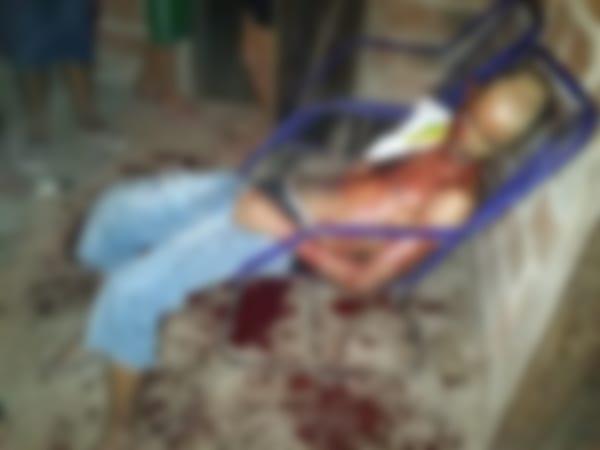 No Maranhão menina de 13 anos degola o padastro para defender a mãe da morte