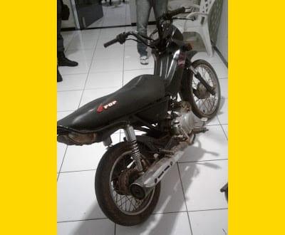 PM de Nova Olinda do Maranhão recupera moto tomada de assalto
