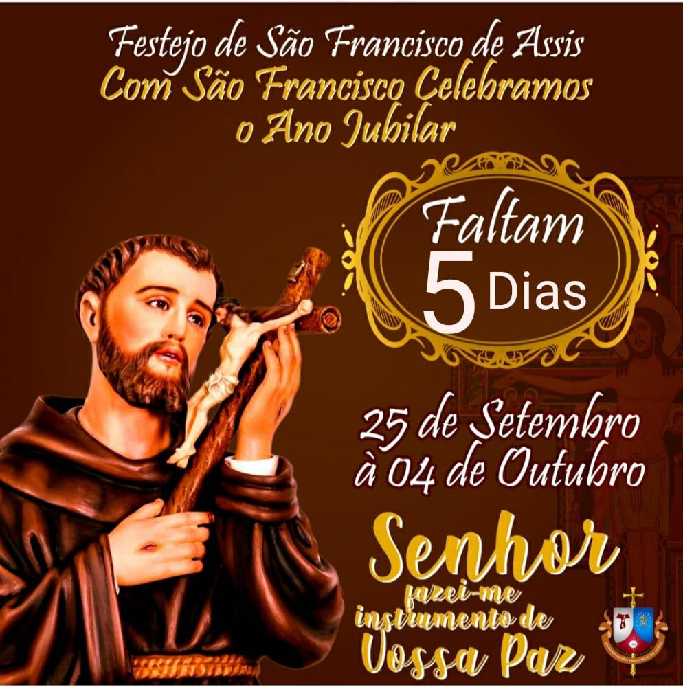 Festejo de São Francisco de Assis, padroeiro de Nova Olinda do MA começa dia 25