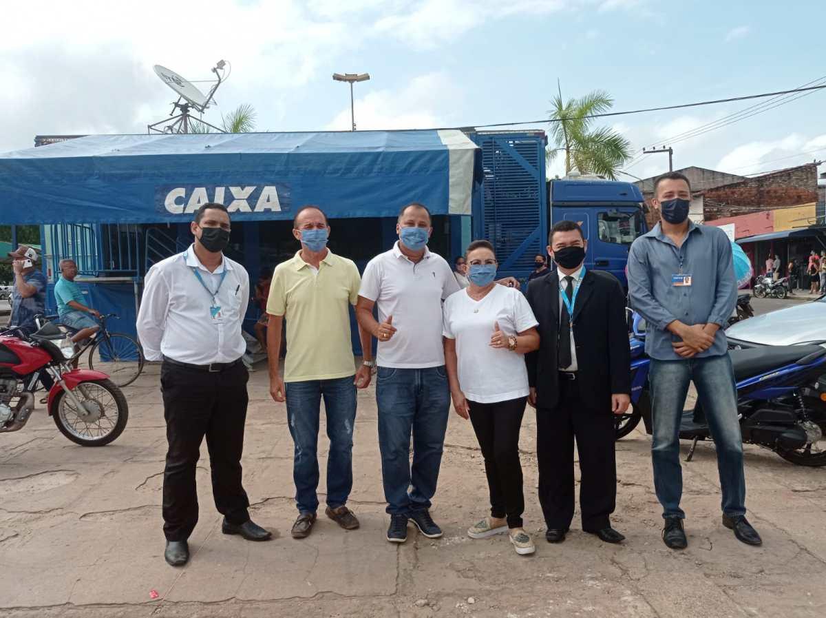 Unidade Móvel da Caixa Econômica realiza atendimentos em Nova Olinda do Maranhão