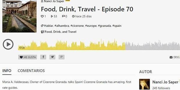 Cicerone en la radio lleva Andalucía a California
