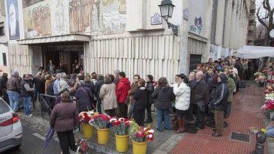 Files visitan a Fray Leopoldo