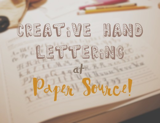 Creative Hand Lettering Class at Paper Source