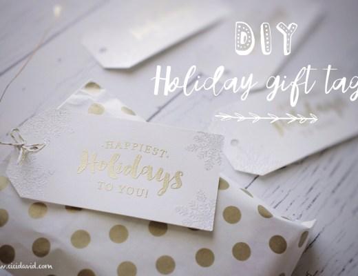 DIY Holiday gift tags using embossing
