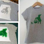 Como fazer estampas em camisas usando Stencil