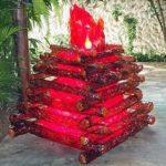 Como fazer uma fogueira artificial com papel celofane para festa junina de São João