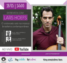 Cartaz entrevista ao vivo com professor Dr. Lars Hoefs