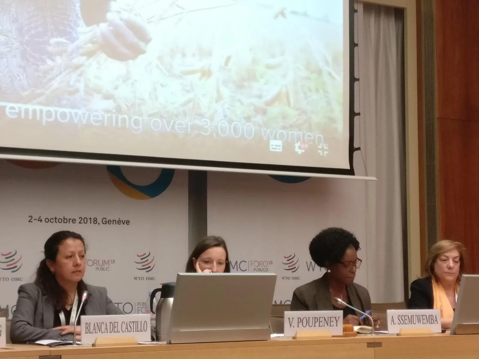 SESIÓN DE CIDEAL EN EL FORO DE LA OMC: MUJERES, COMERCIO Y DESARROLLO