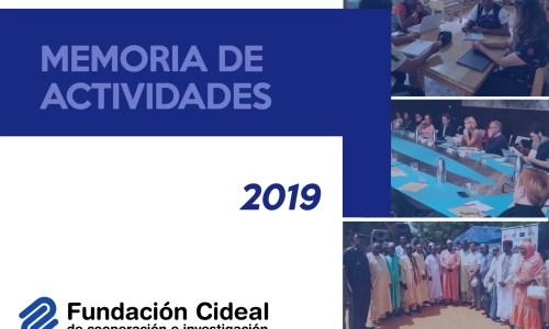 Presentamos nuestra Memoria de Actividades 2019