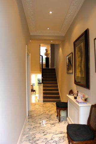 Arabescato Marble entrance hall in Chelsea development