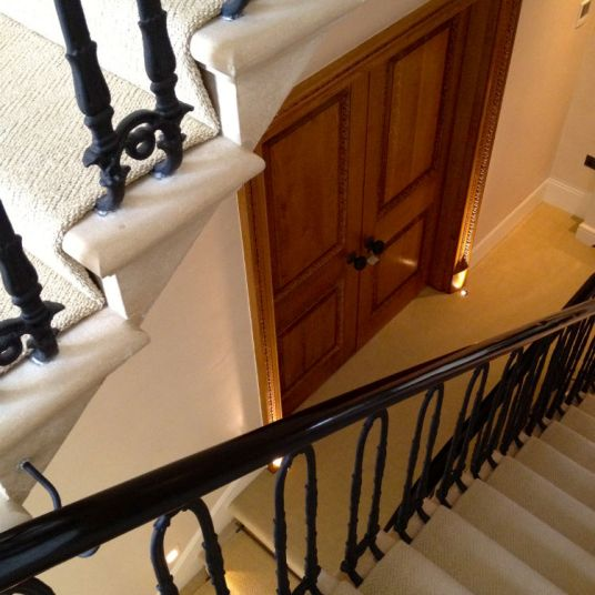 French polished Mahogany handrail Knightsbridge