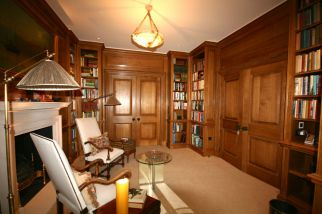 Solid Oak Library in Knighstbridge Refurbishment