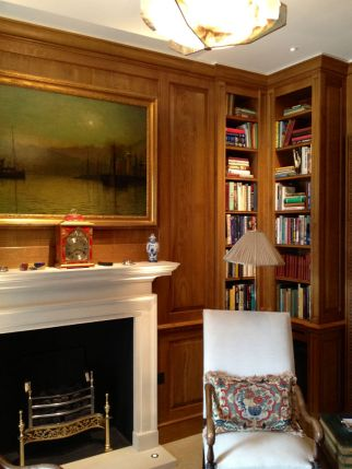 Solid Oak Library in Knightsbridge refurbishment