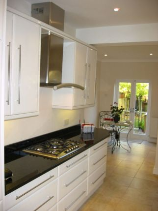 White High Gloss Kitchen in Wimbledon