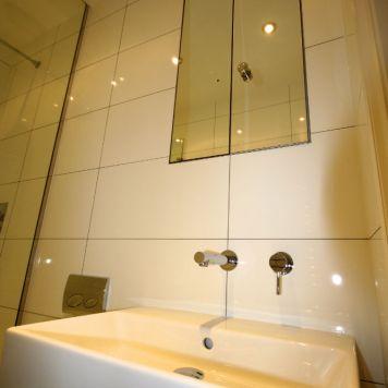 White modern Bathroom in Chelsea