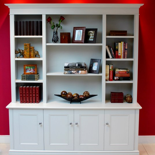 Freestanding Bookcase with cupboard storage below