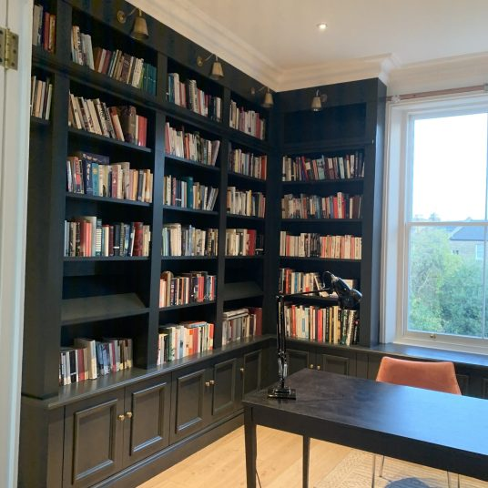 L shaped Bookcase