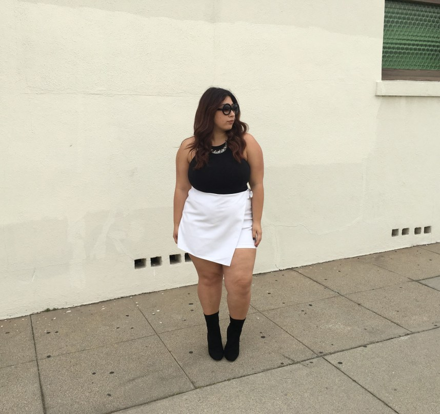 spring, spring outfit, plus size, fashion, plus size fashion, forever 21, forever 21 plus, skort